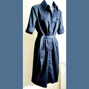 Willi Smith dark wash button down denim dress